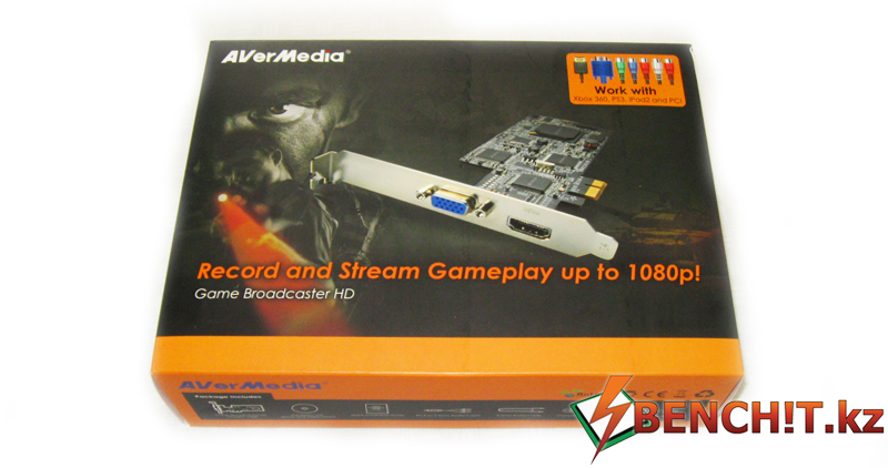 Упаковка AVerMedia Game Broadcaster HD