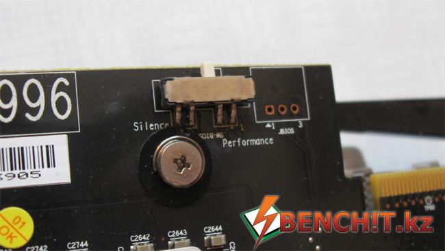 Переключатели BIOS на MSI R6970 Lightning