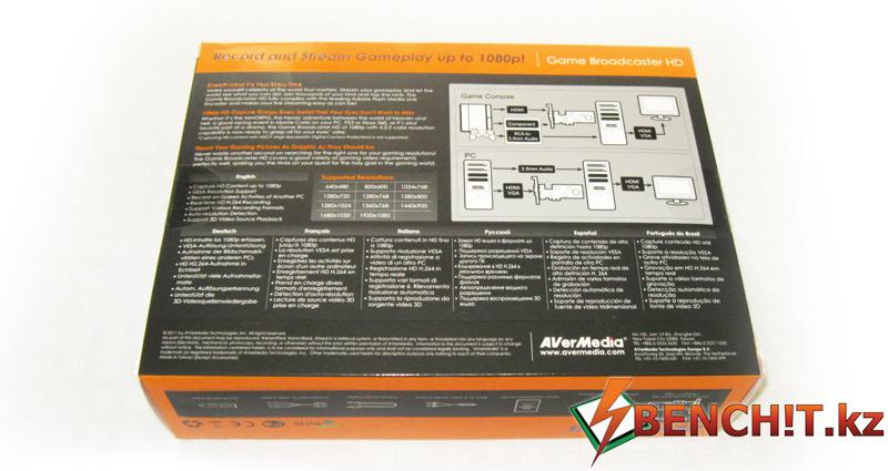 Упаковка AVerMedia Game Broadcaster HD
