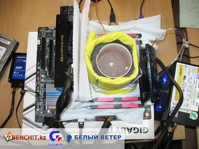 Разгон с жидким азотом процессора Intel Core i7-3820