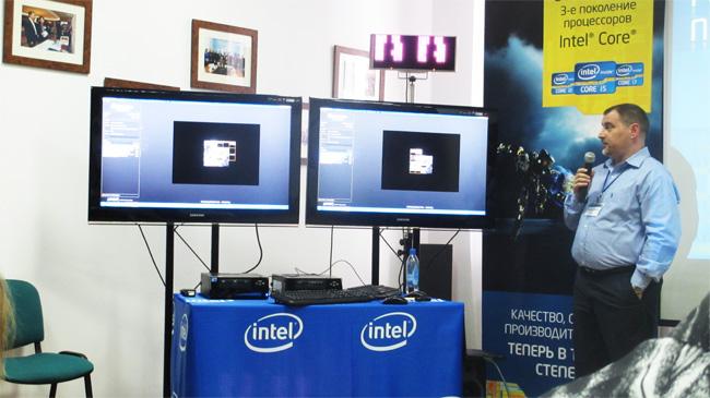 Александр Хоменко демонстрирует производительность новых процессоров