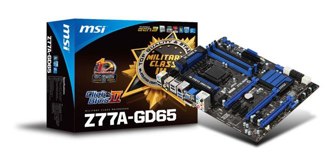 Материнская плата MSI Z77A-GD65