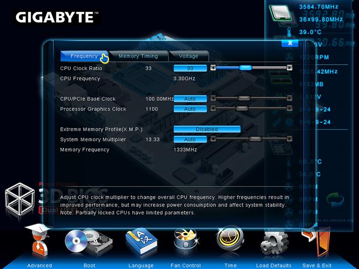 Gigabyte 3D Bios