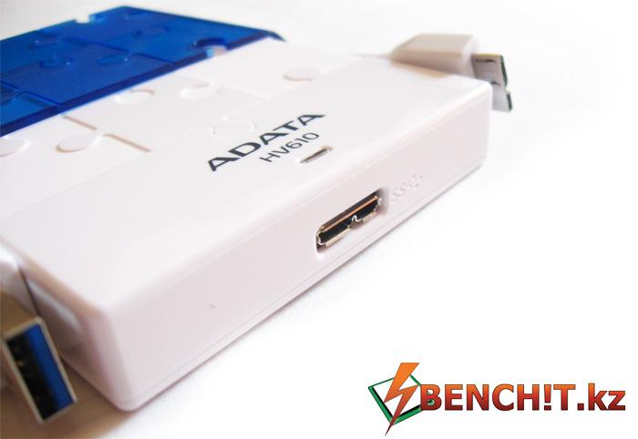 ADATA HV610 Обладает интерфейсом USB 3.0