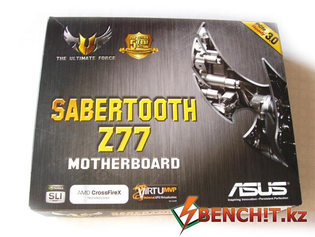 Упаковка ASUS SABERTOOTH Z77