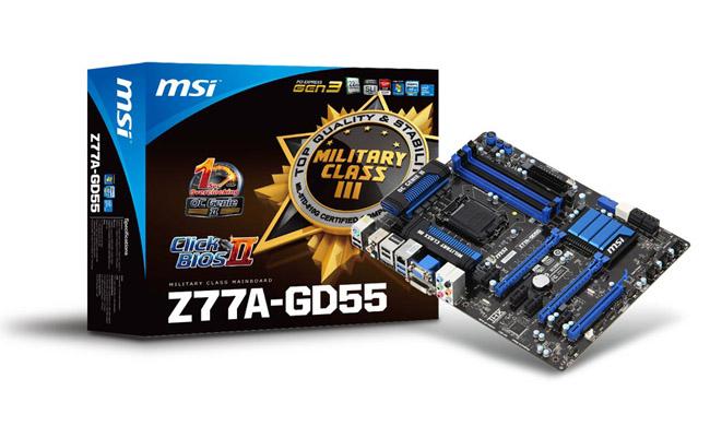 MSI Z77A-GD55 - новейшая материнская плата с поддержкой процессоров Intel Core третьего поколения